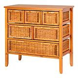 Wicker Chest, 6-drawer