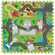 Funtown play road floor mat canadian tire for Housse auto canadian tire