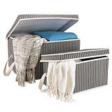 For Living 2 Pack Pinstripe Storage box