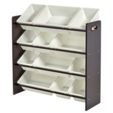 For living 12 bin espresso organizer canadian tire for Meuble canadian tire