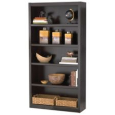 For Living 5 Shelf Bookcase Jamocha Wood