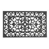 Rubber Wrought Iron Mat, 18 x 30-inch