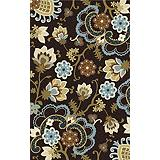 Floral Bloom Area Rug, 5 x 8 ft