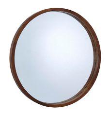CANVAS Mina Round Wood Mirror