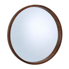 CANVAS Mina Round Wood Mirror