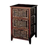 Home Collections 3-Drawer Dark Chest