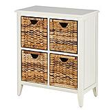For Living Verona Wicker 4 Drawer Chest