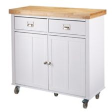 CANVAS Mayfield Kitchen Cart, White | Canadian Tire