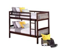 Dorel Twin Over Twin Bunk Bed Espresso Canadian Tire