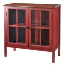 For Living Red Everett 2 Door Cabinet Canadian Tire