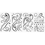 RoomMates Music Scroll Notes Wall Decal