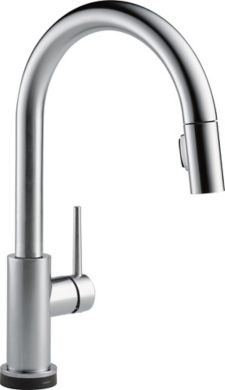 delta trinsic single handle pull down kitchen faucet with canadian tire peerless chrome high arc kitchen faucet