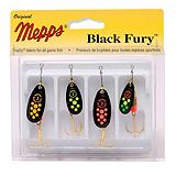 Mepps Black Fury Spinner Lure Kit, 4-Pk