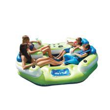 Le flottante fluid 4 personnes canadian tire - Ile flottante gonflable ...