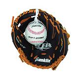 Franklin 9.5-in PVC Baseball Glove with Ball