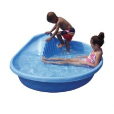 Curved slide pool 10 x 52 x 16 in canadian tire for Piscine plastique rigide