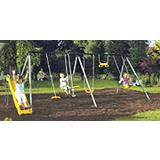 Hornet 6-station Metal Swing Set