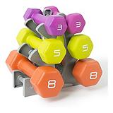 Neoprene-Coated Dumbbell Set, 32-lbs