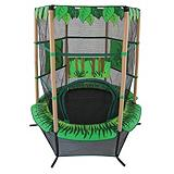 Kiddy Jungle Trampoline with Enclosure, 55-in