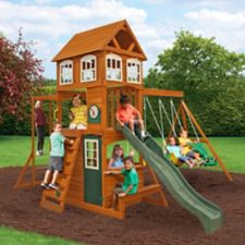 Cedar summit cranbrook wooden play centre canadian tire for Balancoire exterieur canadian tire