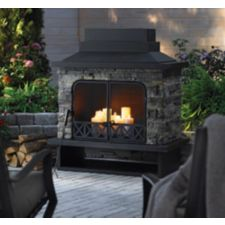 For living kingston outdoor fireplace canadian tire for Foyer exterieur canadian tire