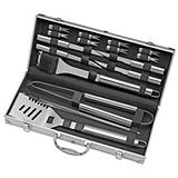 Master Chef Stainless Steel Barbecue Set with Case, 19-Pc