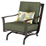 Monterey Collection Steel Cushion Action Patio Armchair