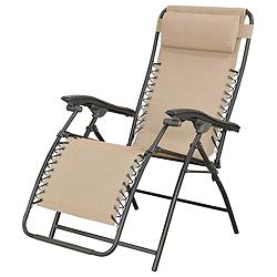 Canadian tire zero gravity chair beige customer reviews for Chaise 0 gravite canadian tire