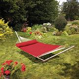 Basketweave Hammock, Red