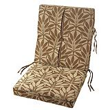 Terrace Patio Chair Cushion, Brown Leaf