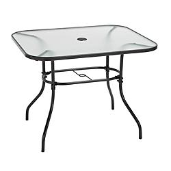 Canadian tire colton collection glass patio dining table for Top rated dining tables