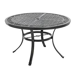 Canadian tire la z boy aberdeen collection round cast for Top rated dining tables