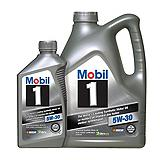 Mobil 1 Synthetic Motor Oil, 4.4L + 1L Bonus