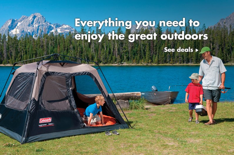 Everything you need to enjoy the great outdoors
