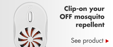 Clip-on your OFF mosquito repellent