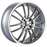Akita Racing AK-25 Rim in Hypersilver with Machined Lip