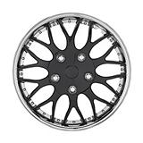 Chrome/Ice Black Wheel Cover KT970, 16-in, 2-pk