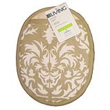For Living Pot Holder, Beige Floral
