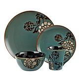 Cuisinart 16-Piece Blue Stoneware Dinner Set