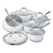 Batterie lagostina bianco forged c ramique blanc 10 - Batterie de cuisine lagostina ...