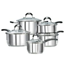 lagostina casa mia stainless steel cookware set 10 pc