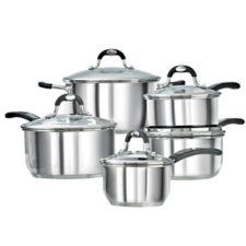 Lagostina casa mia stainless steel cookware set 10 pc - Batterie de cuisine lagostina ...