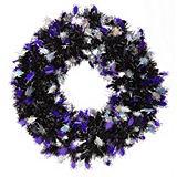 Assorted Halloween Tinsel Wreath