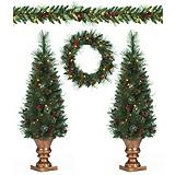 NOMA 5 piece Pine Christmas Tree Set