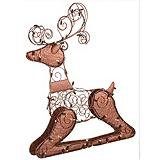 NOMA Pre-Lit Sitting Reindeer Wireform, Bronze, 33-in