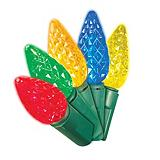 Likewise 100 Outdoor C6 LED Christmas Lights, Assorted Colours