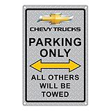 Chevy Trucks Parking Only Metal Sign