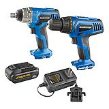 Mastercraft 20V Max Li-Ion Cordless Drill and Impact Wrench Combo Kit