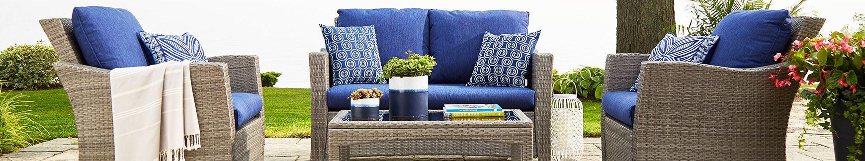 outdoor ikea furniture ll h kungsholmen patio rattan lounge pin ivory black garden