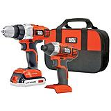 Black & Decker Drill and Impact Driver